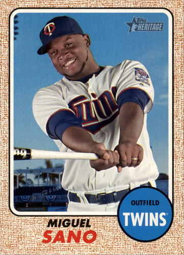 Photo of 2017 Topps Heritage #436 Miguel Sano -- Twins post-season