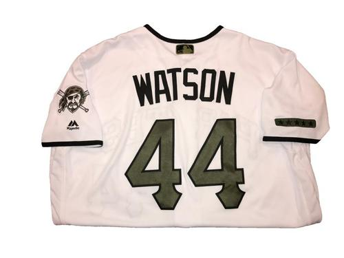 Photo of Tony Watson Game-Used Memorial Day Weekend Jersey