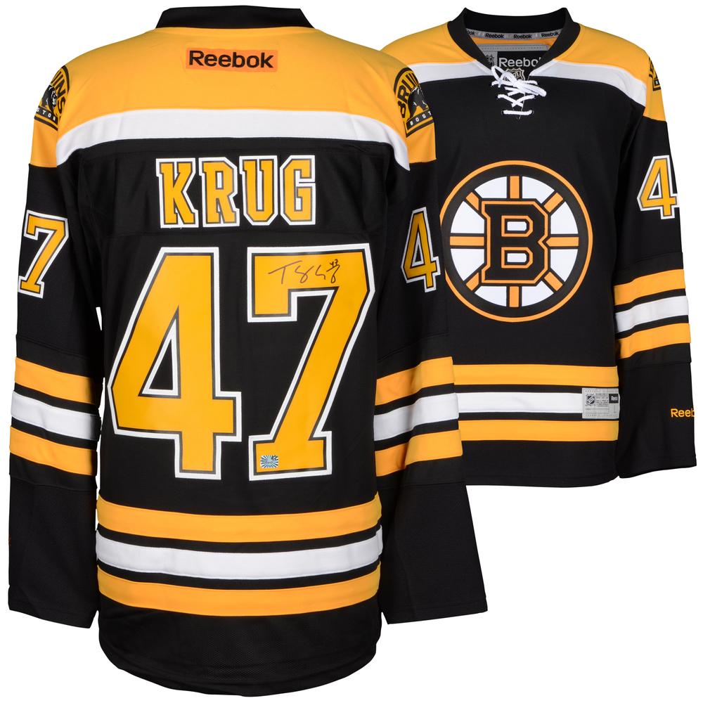 Torey Krug Boston Bruins Autographed Black Reebok Premier Jersey