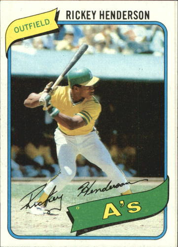 Photo of 1980 Topps #482 Rickey Henderson RC/UER 7 steals at/Modesto should be Fresno
