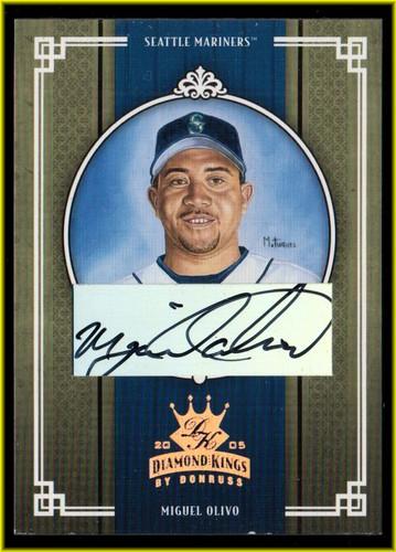 Photo of 2005 Diamond Kings Signature Bronze #206 Miguel Olivo/100