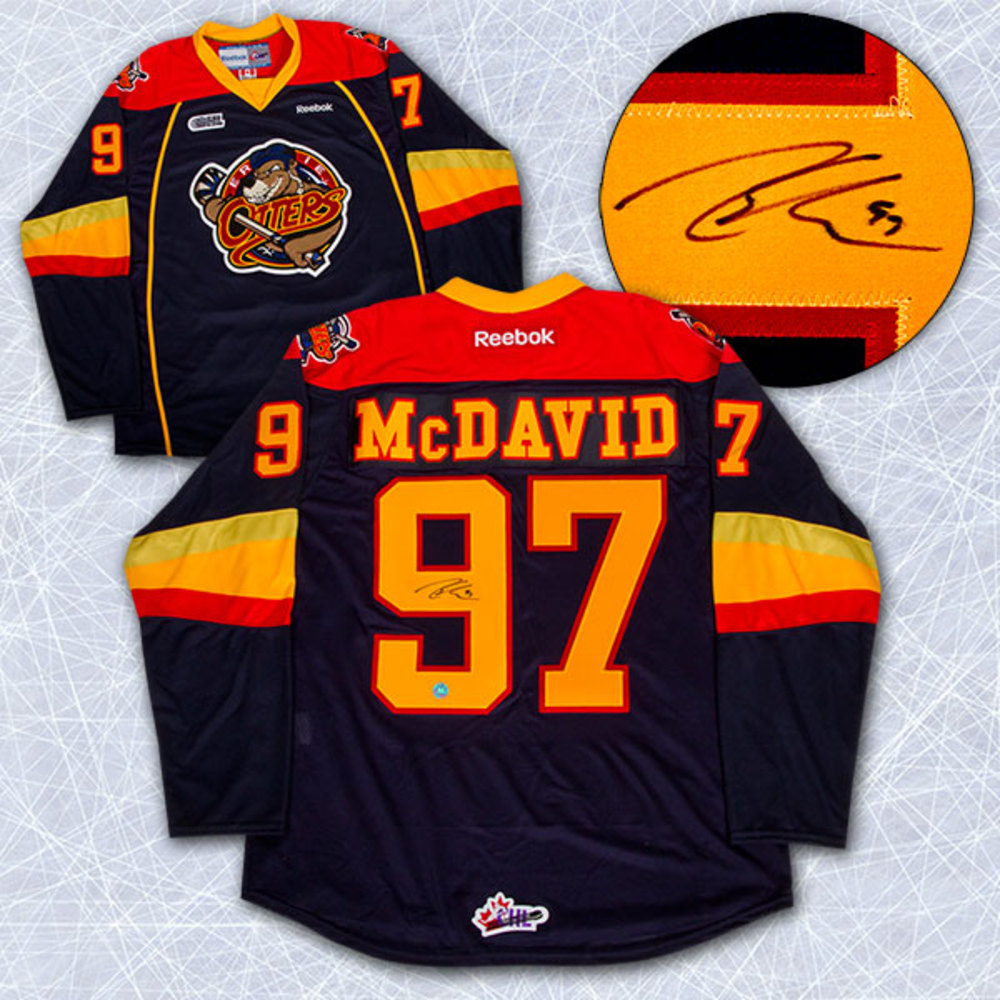 Connor McDavid Erie Otters Autographed Reebok Premier OHL Jersey
