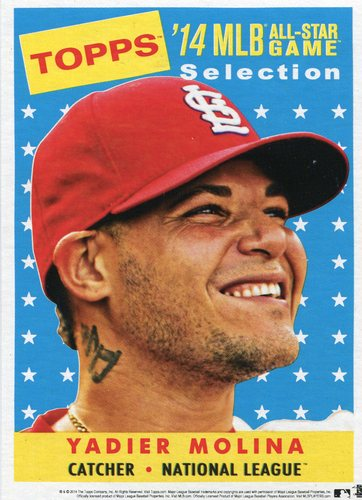 Photo of 2014 Topps 5x7 All-Star Selection Yadier Molina -- Part of exclusive Minneapolis FanFest set