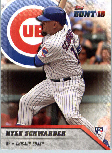 Photo of 2016 Topps Bunt #91 Kyle Schwarber -- Chicago Cubs rookie card