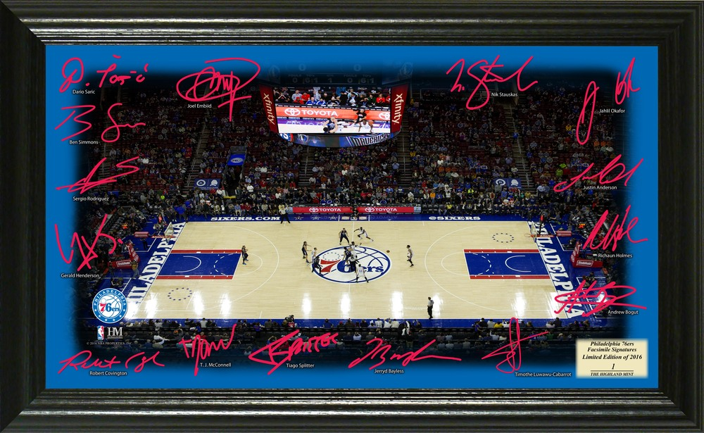 Serial #1! Philadelphia 76ers Signature Court