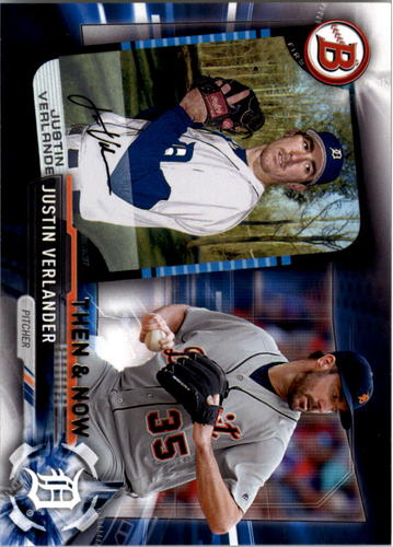 Photo of 2017 Topps Bowman Then and Now #BOWMAN16 Justin Verlander