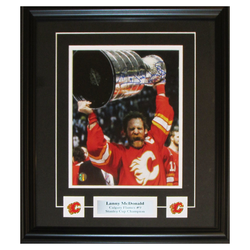 Lanny McDonald Autographed Calgary Flames Framed 8X10 Photo