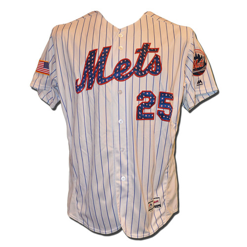 Photo of Ricky Bones #25 - Game Used 4th of July Jersey - Mets vs. Phillies - 7/2/17
