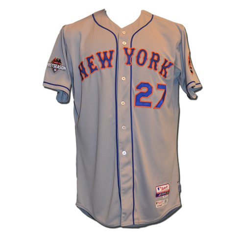 Photo of Jeurys Familia #27 - MLB Authenticated Team Issued 2015 Postseason Jersey - 2015 Postseason Patch on Right Sleeve