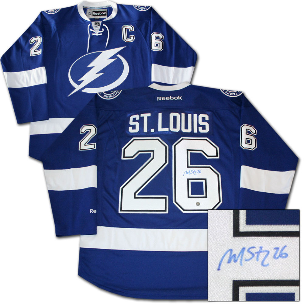 Martin St. Louis Autographed Tampa Bay Lightning Jersey