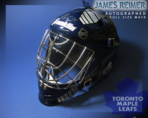 JAMES REIMER Signed Toronto Maple Leafs Full Size Goalie Mask