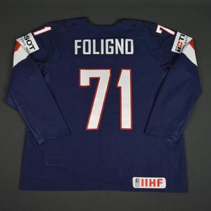 Nick Foligno - 2016 U.S. IIHF World Championship - Game-Worn Jersey w/A