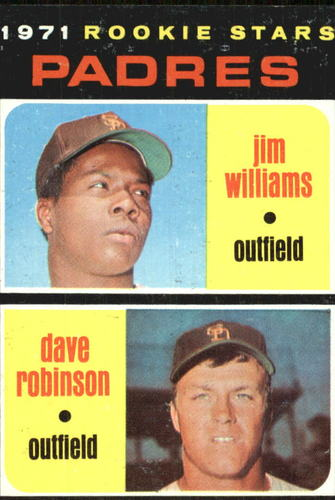 Photo of 1971 Topps #262 Rookie Stars/Jim Williams/Dave Robinson RC