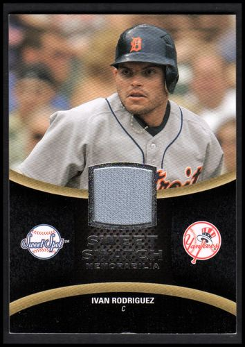 Photo of 2008 Sweet Spot Swatches #SIR Ivan Rodriguez NM