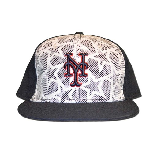 Photo of Matt Reynolds #15 - Game Used Stars and Stripes Hat - Mets vs. Marlins - 7/4/16