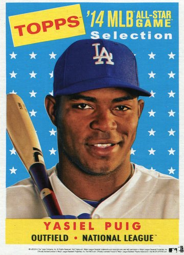 Photo of 2014 Topps 5x7 All-Star Selection Yasiel Puig -- Part of exclusive Minneapolis FanFest set
