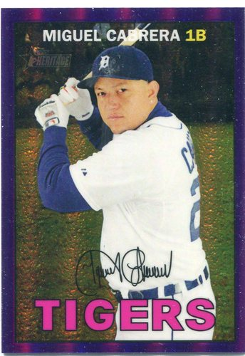 Photo of 2016 Topps Heritage Chrome Purple Refractors #THC478 Miguel Cabrera