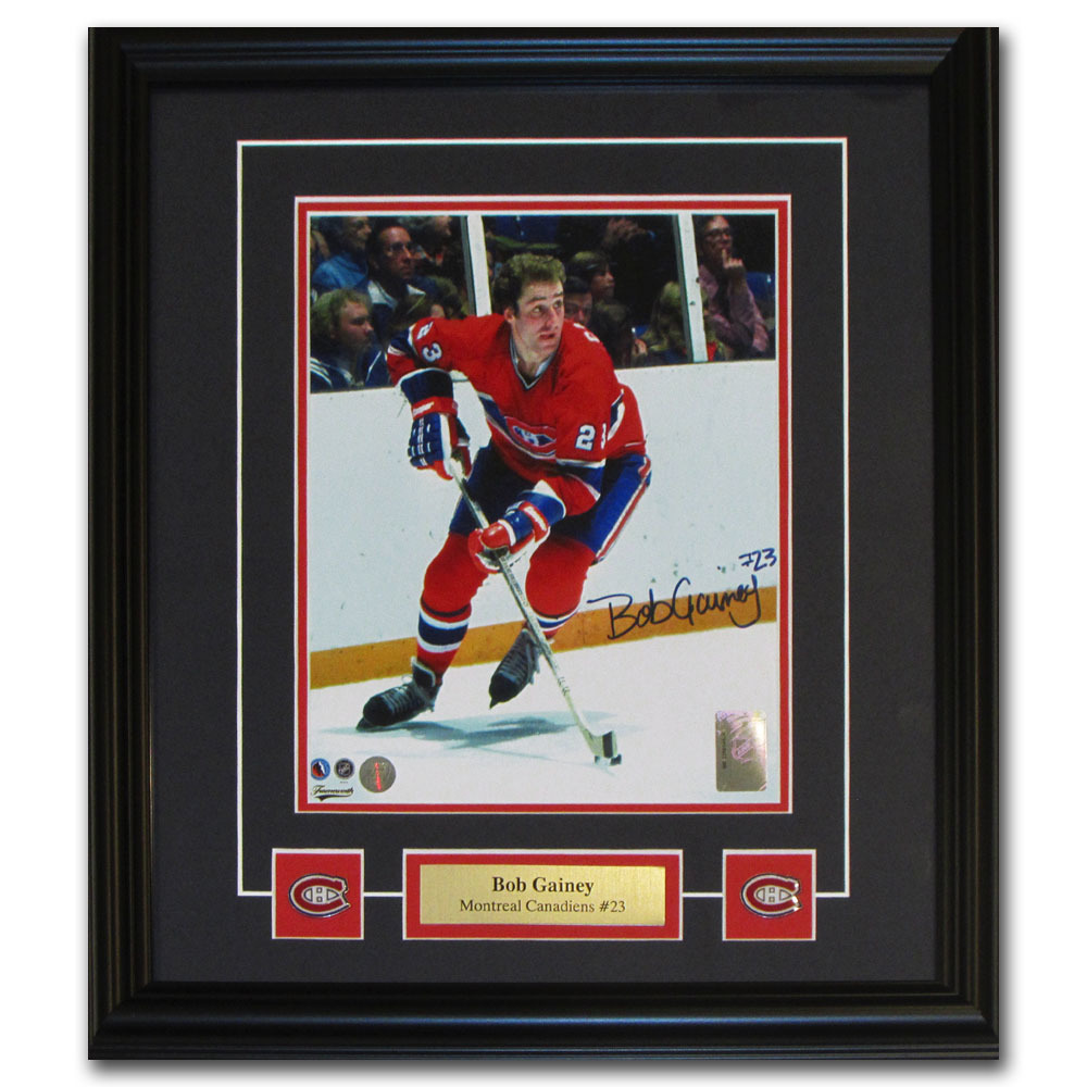 Bob Gainey Autographed Montreal Canadiens Framed 8X10 Photo