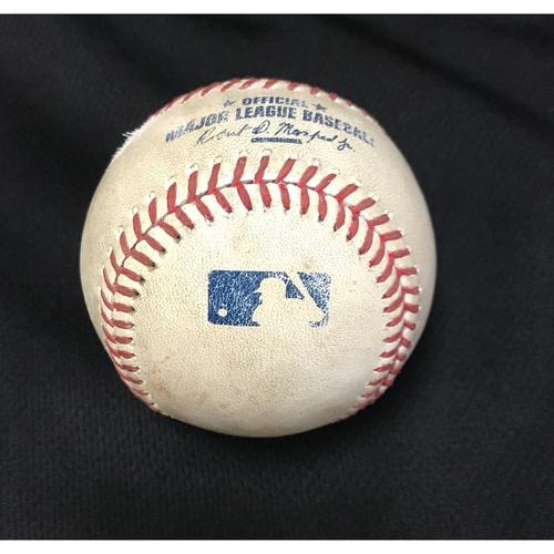 Photo of Game-Used Baseball - Jake Lamb RBI Groundout vs. Tanner Roark