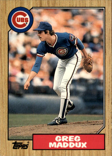 Photo of 1987 Topps Traded #70T Greg Maddux  Rookie card
