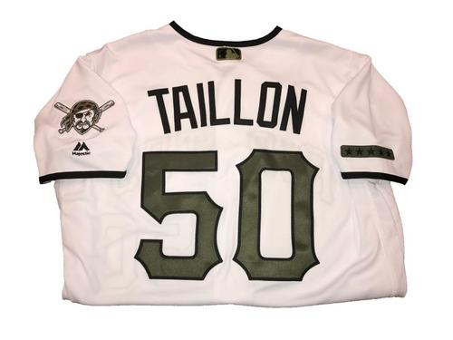 Photo of Jameson Taillon Game-Used Memorial Day Jersey