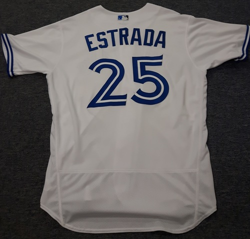 Authenticated Game Used Jersey - #25 Marco Estrada (July 28, 2017). Size 46.
