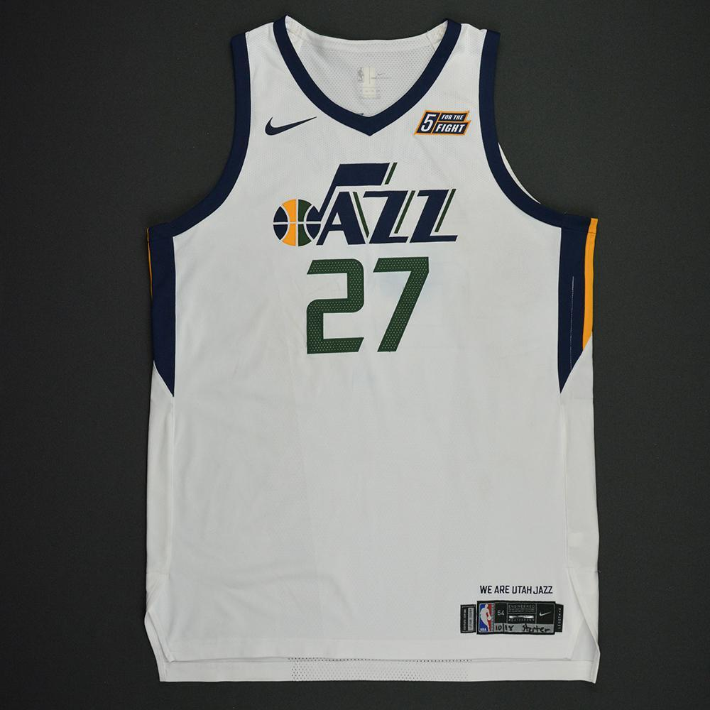 Rudy Gobert - Utah Jazz - Kia NBA Tip-Off 2017 - Game-Worn Jersey - Double-Double