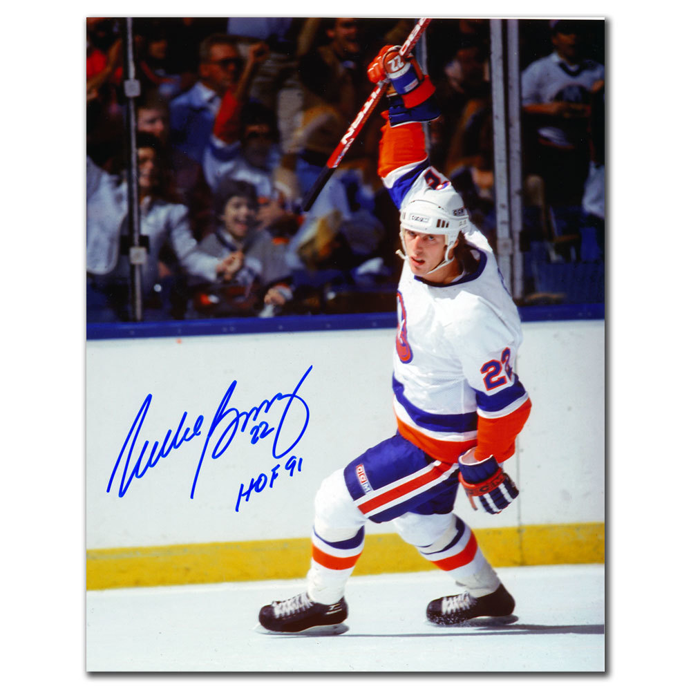 Mike Bossy New York Islanders Celebration Autographed 8x10