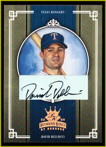 Photo of 2005 Diamond Kings Signature Bronze #236 David Dellucci/100