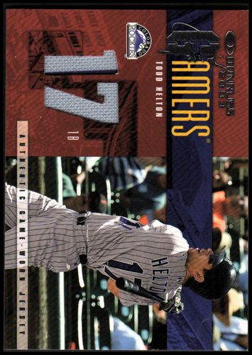 Photo of 2003 Donruss Gamers Jersey Number #37 Todd Helton