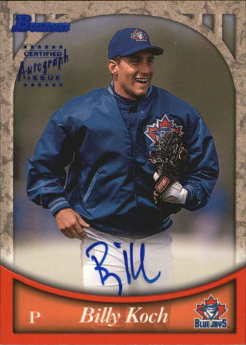 Photo of 1999 Bowman Autographs #BA65 Billy Koch B