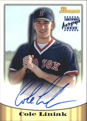Photo of 1998 Bowman Certified Blue Autographs #8 Cole Liniak