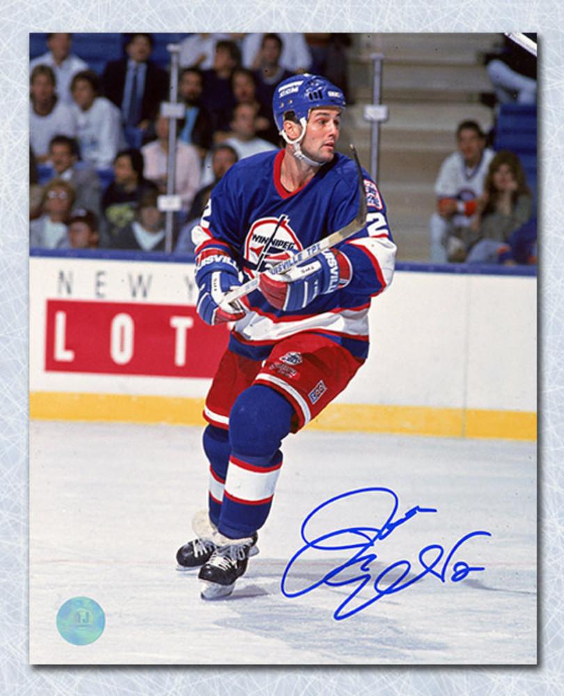 Dave Ellett Winnipeg Jets Autographed 8x10 Photo
