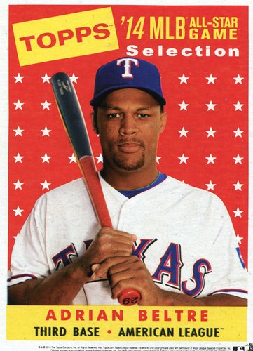 Photo of 2014 Topps 5x7 All-Star Selection Adrian Beltre -- Part of exclusive Minneapolis FanFest set