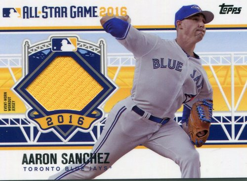 Photo of 2016 Topps Update All-Star Stitches #ASTITAS Aaron Sanchez
