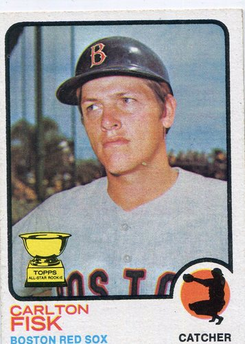 Photo of 1973 Topps #193 Carlton Fisk Hall of Famer