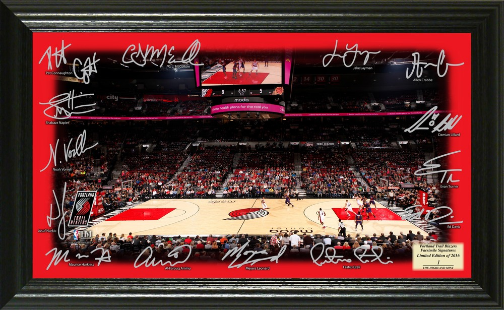 Serial #1! Portland Trailblazers Signature Court