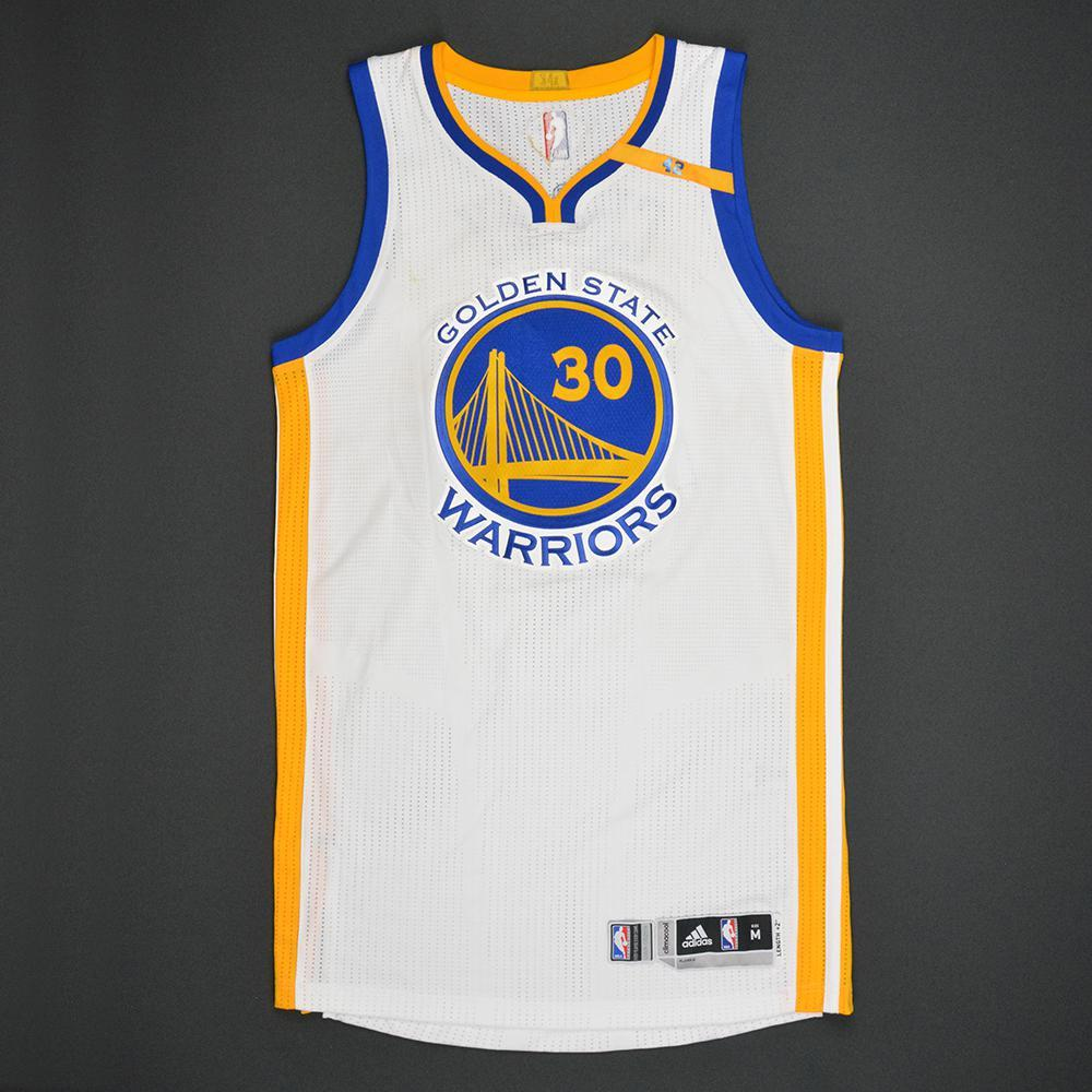 Stephen Curry - Golden State Warriors - 2017 NBA Finals - Game 1 - Game-Worn White Jersey