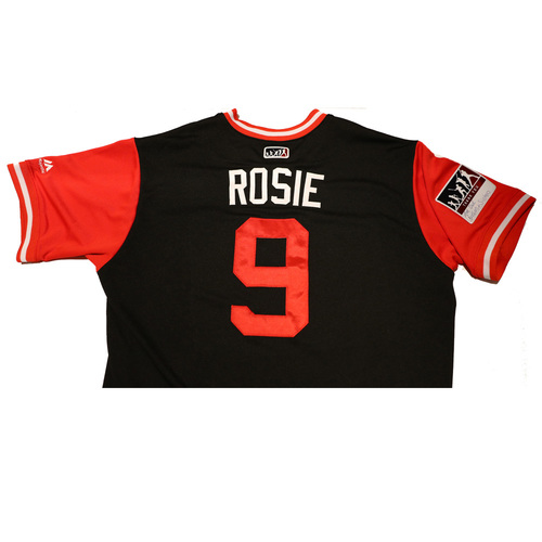 "Photo of Adam ""Rosie"" Rosales Arizona Diamondbacks Game-Used Players Weekend Jersey"
