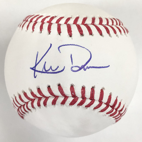 Photo of Khris Davis Autographed Baseball