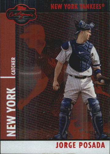 Photo of 2008 Topps Co-Signers Silver Red #35a Jorge Posada