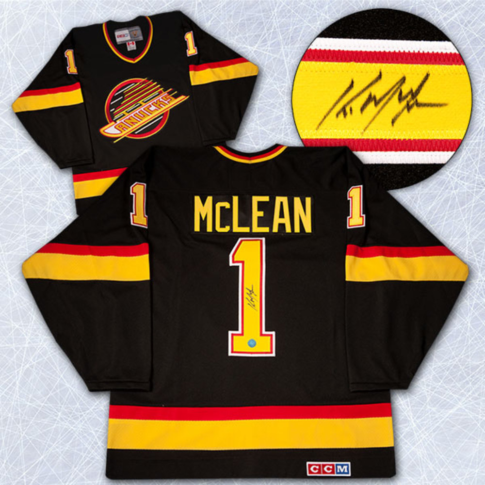 Kirk McLean Vancouver Canucks Autographed Retro CCM Hockey Jersey