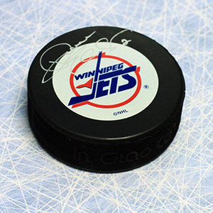 Dave Ellett Winnipeg Jets Autographed Hockey Puck