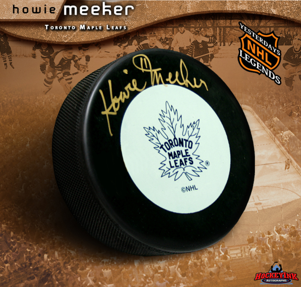 HOWIE MEEKER Signed Toronto Maple Leafs Puck