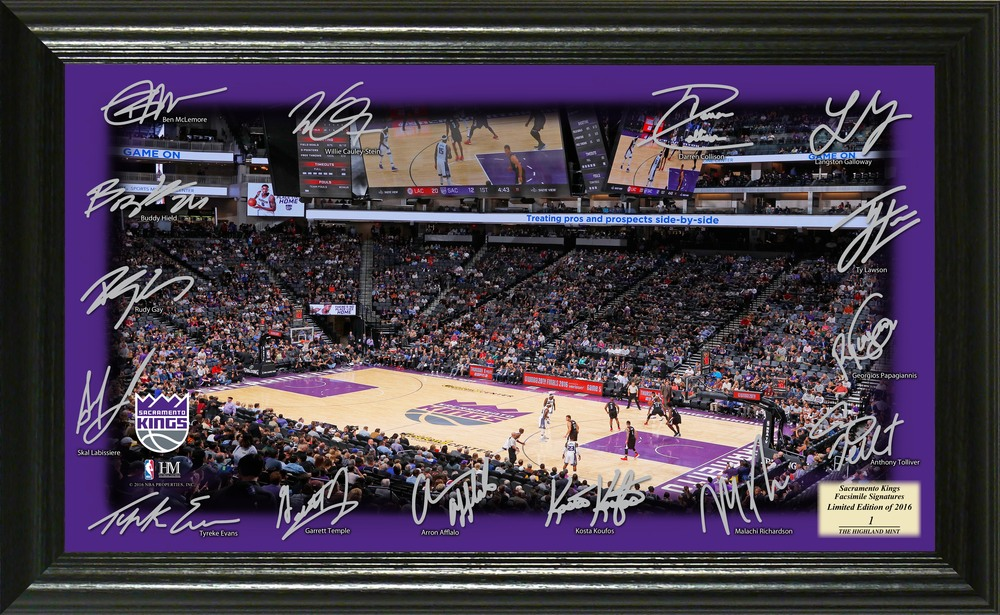 Serial #1! Sacramento Kings Signature Court