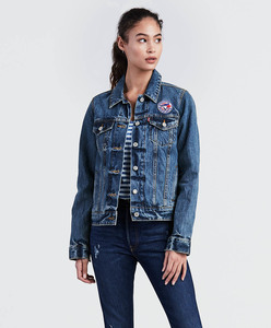 Toronto Blue Jays Ladies Denim Trucker Jacket by Levi's