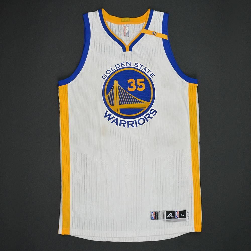 Kevin Durant - Golden State Warriors - 2017 NBA Finals - Game 1 - Game-Worn White Jersey (Worn in 2 Additional Playoff Games)