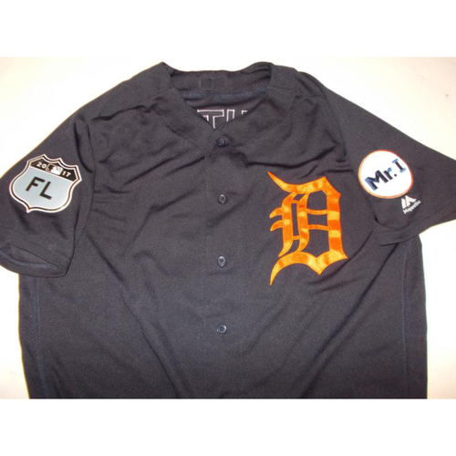 Photo of Team-Issued Mikie Mahtook Road Spring Training Jersey