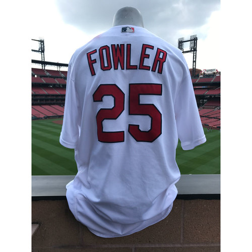 Photo of Cardinals Authentics: Dexter Fowler Game-Used Home White Jersey *Grand Slam Jersey*
