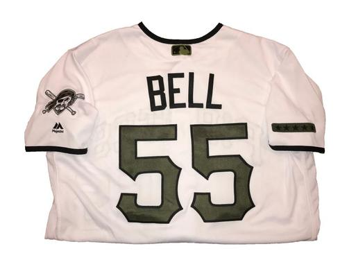 Photo of Josh Bell Game-Used Memorial Day Weekend Jersey